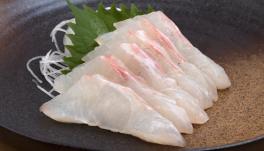 鯛などの白身魚の刺身